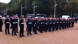 Marine cadets assembling on Horse Guards Parade