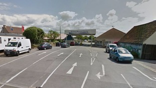 Woman and children hit by car outside holiday park