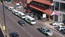 Bomb disposal team called as five arrested on terror offences