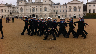 Sea cadets on Horse Guards Parade