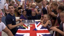 Max Whitlock returns to hero's welcome at his gym after double Olympic gold