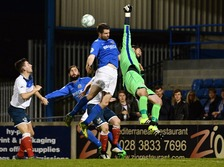 Glenavon beat Ards to go top on Friday night.