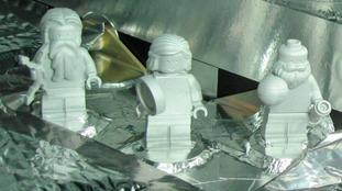 Galileo, Jupiter and Juno Lego figures on board Nasa's Juno space probe