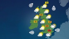 Weather: Outbreaks of rain in the south, dry elsewhere