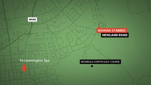 A woman was stabbed in Newland Road on Friday evening