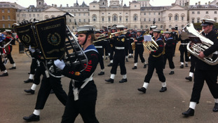 Cadets commemorating Battle of Trafalgar anniversary