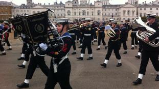 Cadets commemorating Battle of Trafalgar anniversary