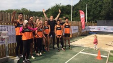 Milton Keynes' long jumper Greg Rutherford has today hosted a long jump event at his home