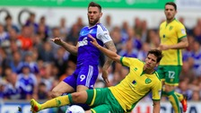 Striker Daryl Murphy featured in last weekend's East Anglian derby