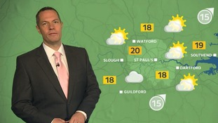 Sunny spells with odd spots of rain for Sunday morning.