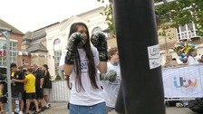 Young people in Colchester having a go at boxing