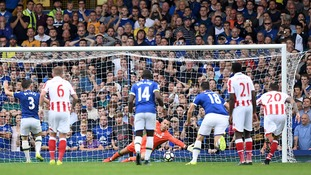 Given own goal gifts Everton win against Stoke