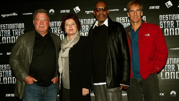 William Shatner, Kate Mulgrew, Avery Brooks and Scott Bakula, who played Star Trek captains