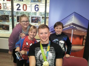 Joanne Holgate said there was a huge crowd to meet Adam Peaty