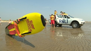 Lifeguards are patrolling the beach to reassure the public