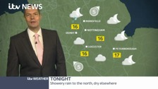 Becoming largely dry overnight. Sunny spells and scattered showers Sunday.