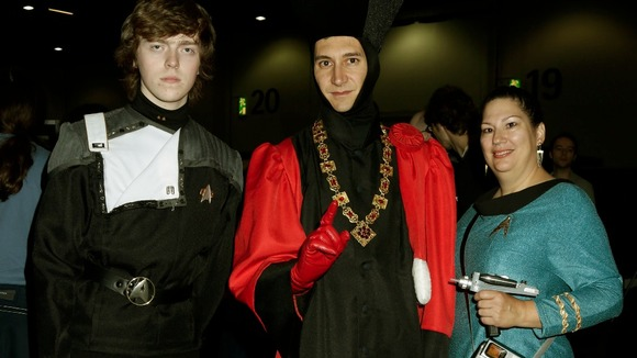 Visitors in costume at Destination Star Trek