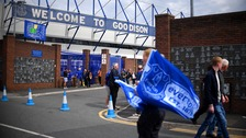 Football fan dies after collapsing during Everton game