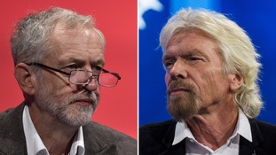Jeremy Corbyn and Richard Branson