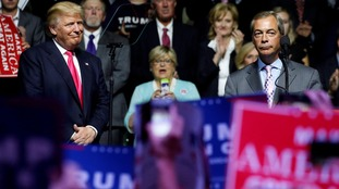 Nigel Farage draws parallel between Donald Trump and Ronald Reagan