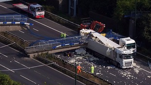M20 expected to reopen after bridge collapses onto motorway