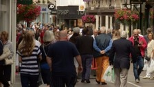 David Elliott says Jersey's high street is busy with visitors in the evenings