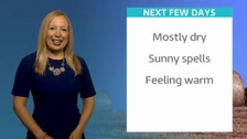 Philippa your Bank Holiday forecast