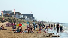 A search operation has been launched at the popular beach.