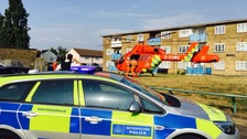 Woman stabbed on housing estate