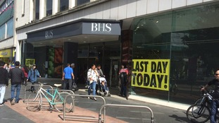 The store in Gallowtree Gate, Leicester is advertising its last day