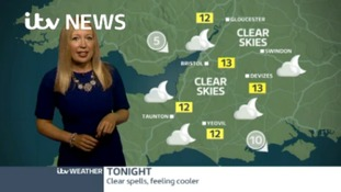 Latest Weather for the West with Philippa Drew