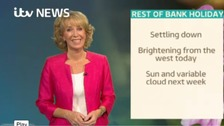 Emma Jesson in front of Granada headline weather graphic