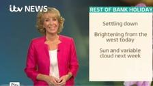 Emma Jesson in front of Granada headline weather graphic