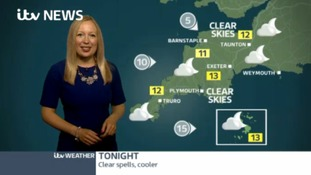 Latest Weather for the South West with Philippa Drew