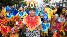Revellers join the party at Notting Hill Carnival