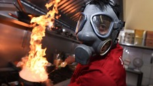 Waiters who serve the Devil's Dish will wear gas masks