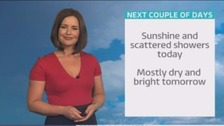Sunshine and showers today