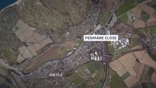 The incident happened on Penmare Close in Hayle