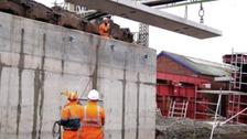 New beams in place at Hucknall Station