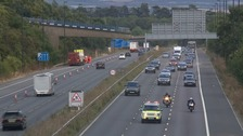 M20 re-opened after footbridge collapse