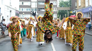Dancers perform during the Children's Day parade.