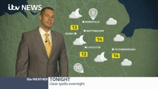 East Midlands Weather: Mainly dry. Some clear spells overnight and sunny spells Monday