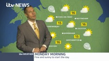 Your Bank Holiday weather forecast with James Wright.