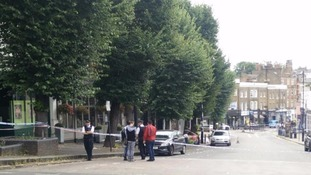 The police cordon in Blackheath.