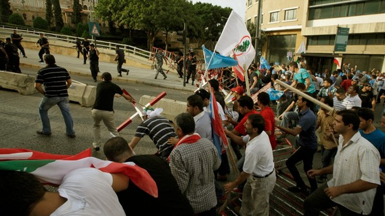 Angry protesters attempt to storm Lebanese government offices in Beirut