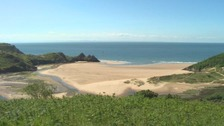 Four rescued after being caught in Gower rip current