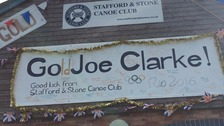 Staffordshire gold medallist Joe Clarke's Olympic celebration