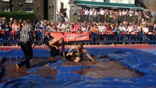 Watch: Annual Gravy Wrestling Championships