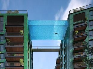Developers to build 25m 'sky pool' between two buildings.