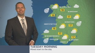 Wales weather: mixed start to the day